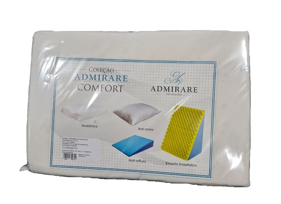 Kit Com 4 Travesseiro Viscoelástico Anatômico Nasa Admirare