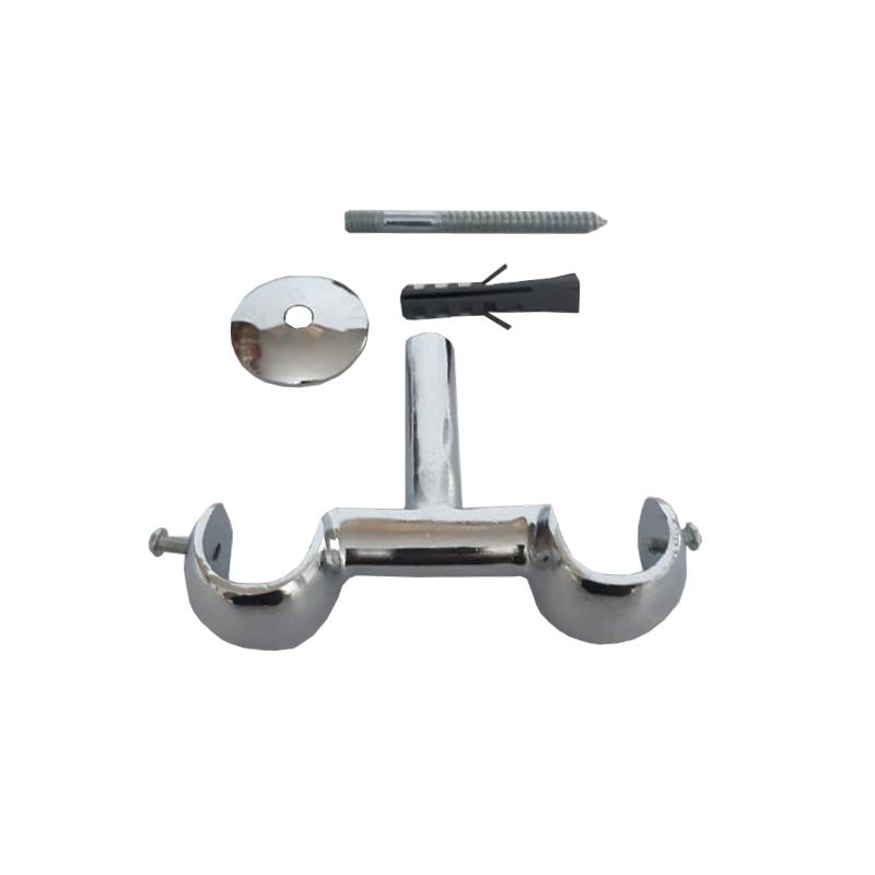 Kit Suporte Teto Duplo 19/19 mm de Alumínio Admirare O Par COR:Branco;TAMANHO:19 mm
