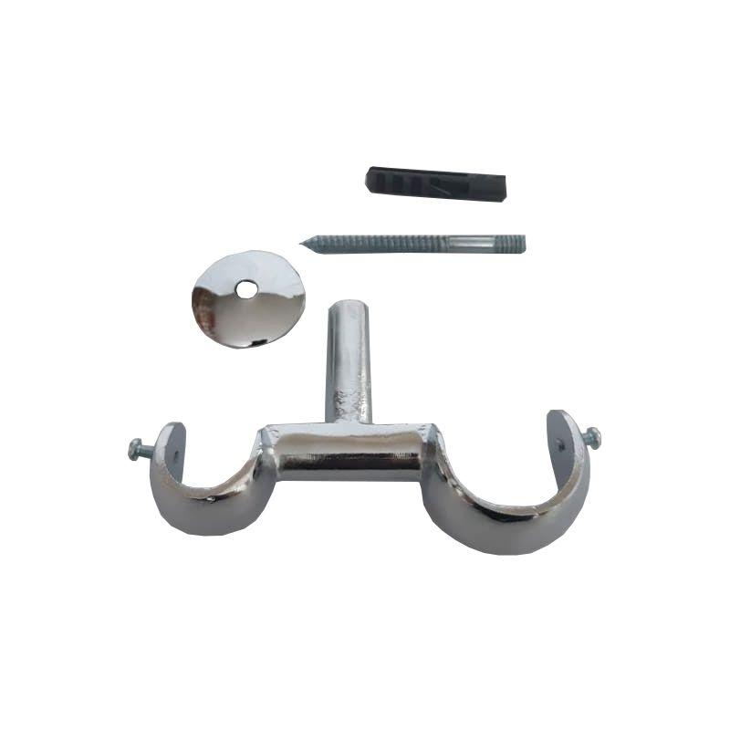 Kit Suporte Teto Duplo 19/28 mm de Alumínio Admirare O Par