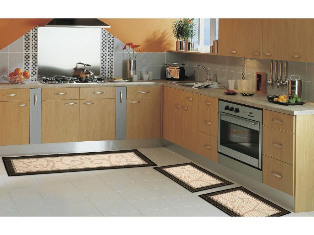 Kit Tapete Cozinha 3 Peças Sisal - Fácil De Lavar