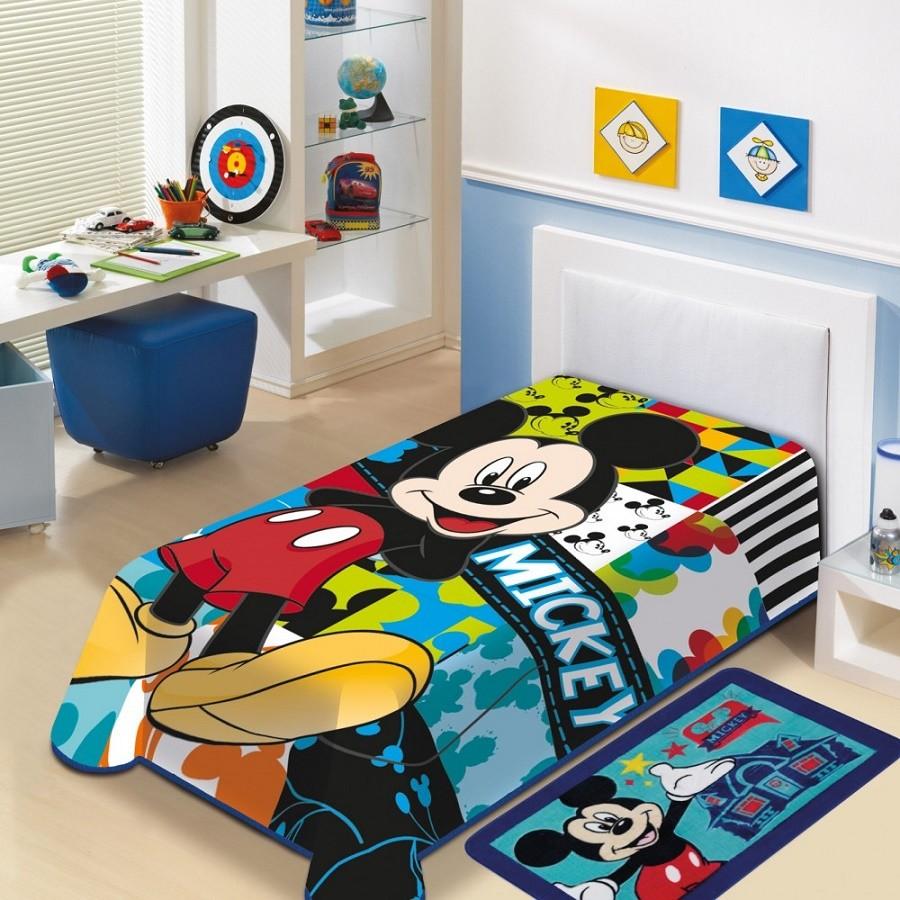 7294360379 Manta Infantil de Microfibra Mickey Disney - Jolitex - Guaru Casa