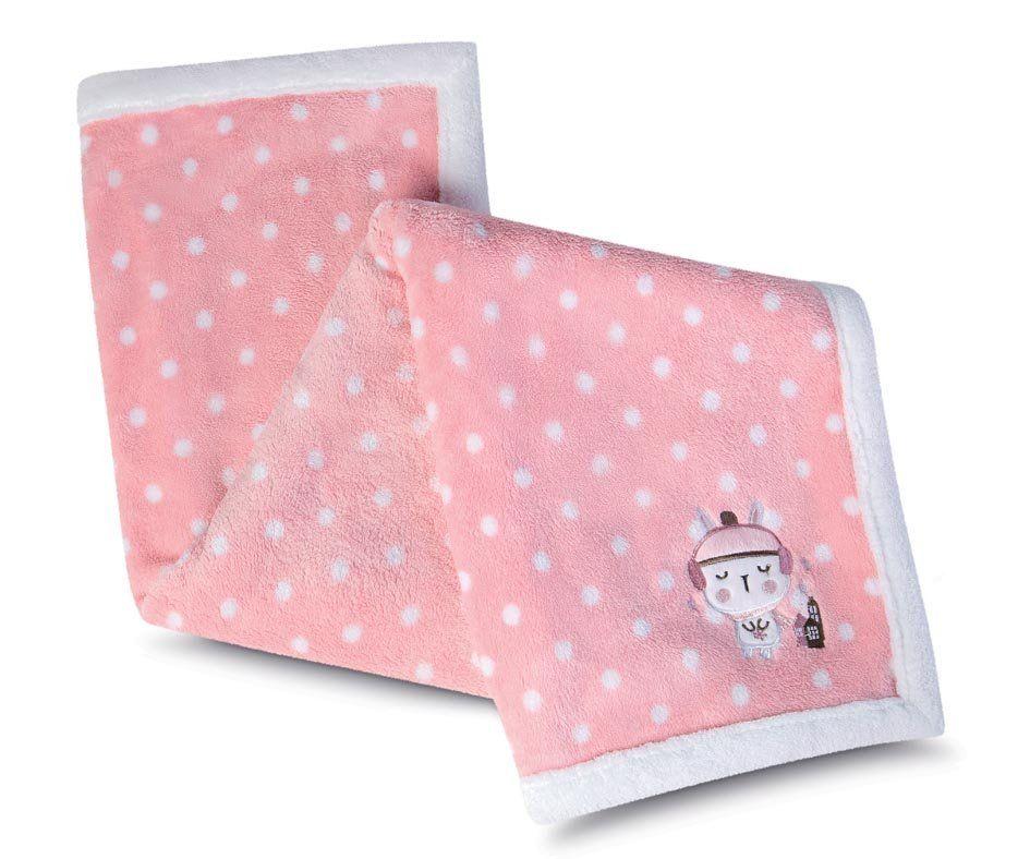 Manta para Bebê Fleece Bordada Mini Com 1 peça | Lepper