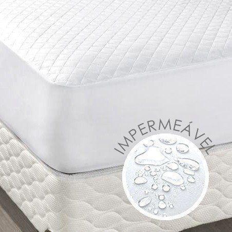 Protetor de Colchão Impermeável Specialle Casal Branco| Pano Bordado