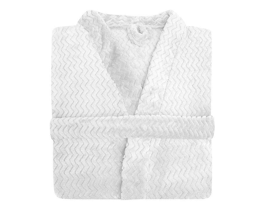 Roupão Plush Tweed - Toque Macio Branco Hedrons