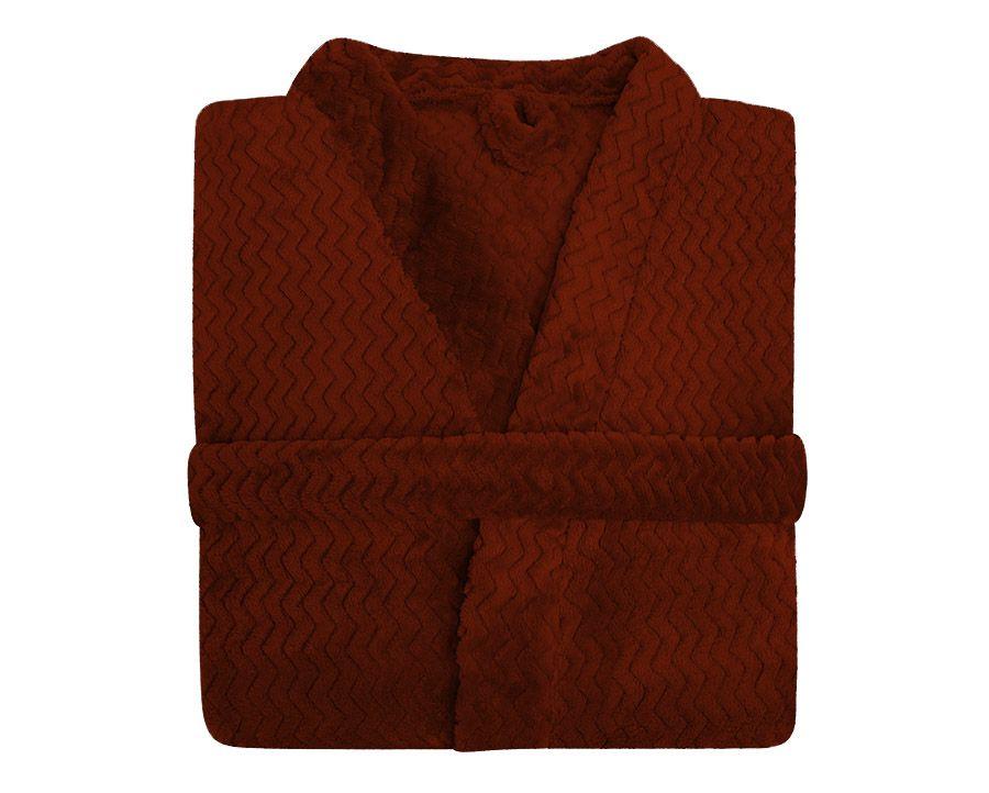 Roupão Plush Tweed  Toque Macio Vermelho Hedrons