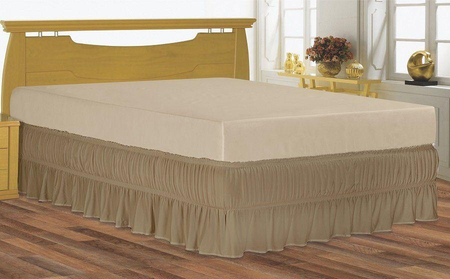 Saia para cama box Queen serve para cama baú em Malha Special | BelCapas