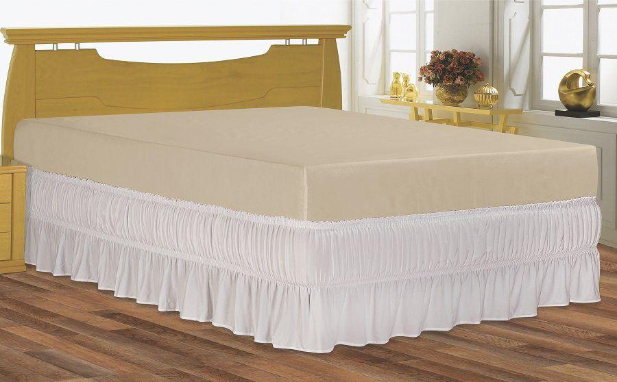 Saia para cama box Solteiro serve para cama baú em Malha Special | BelCapas