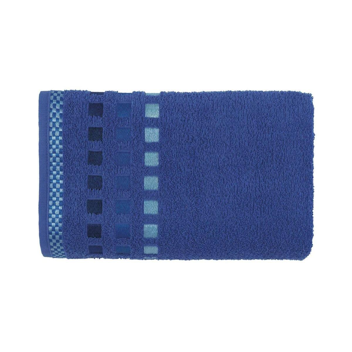 Toalha de Rosto Karsten  Calera Azul em Jacquard 49x70cm