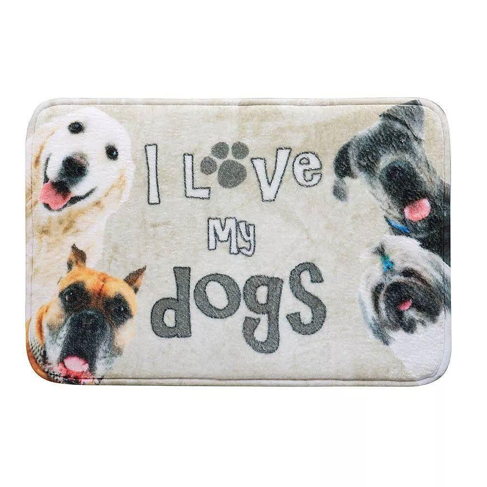 Tapete de Porta Attuale Gran Pet Corttex - Dog Foto Bege