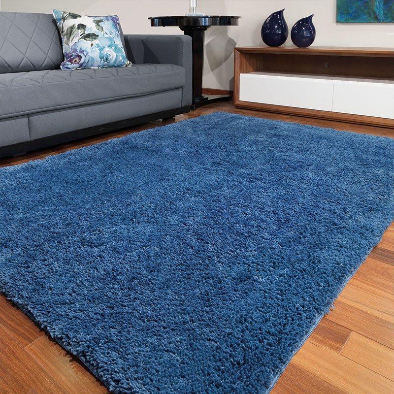 Tapete de Sala e Quarto Pelo Alto Jolitex 1,50x2,00 - Azul