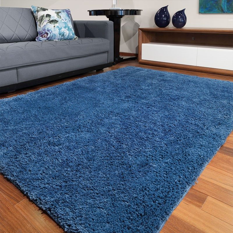 Tapete de Sala e Quarto Pelo Alto Realce 1,50x1,00 Jolitex - Azul
