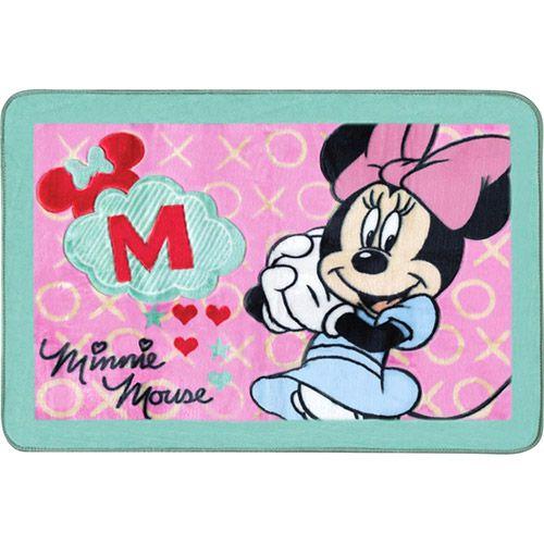 Tapete Minnie fun Super Macio 80x120 cm Disney | Jolitex