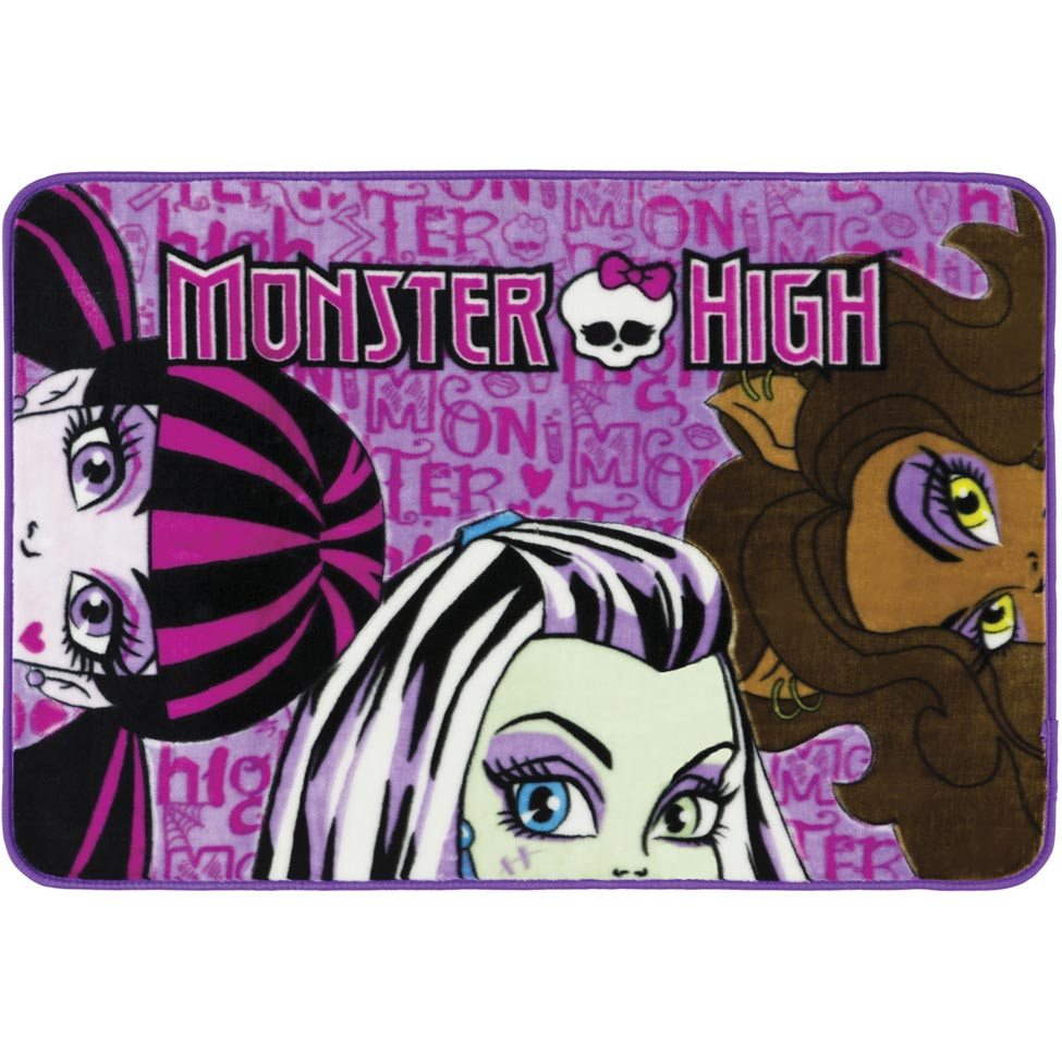 Tapete Monster High Rashel Toque Super Macio - Jolitex