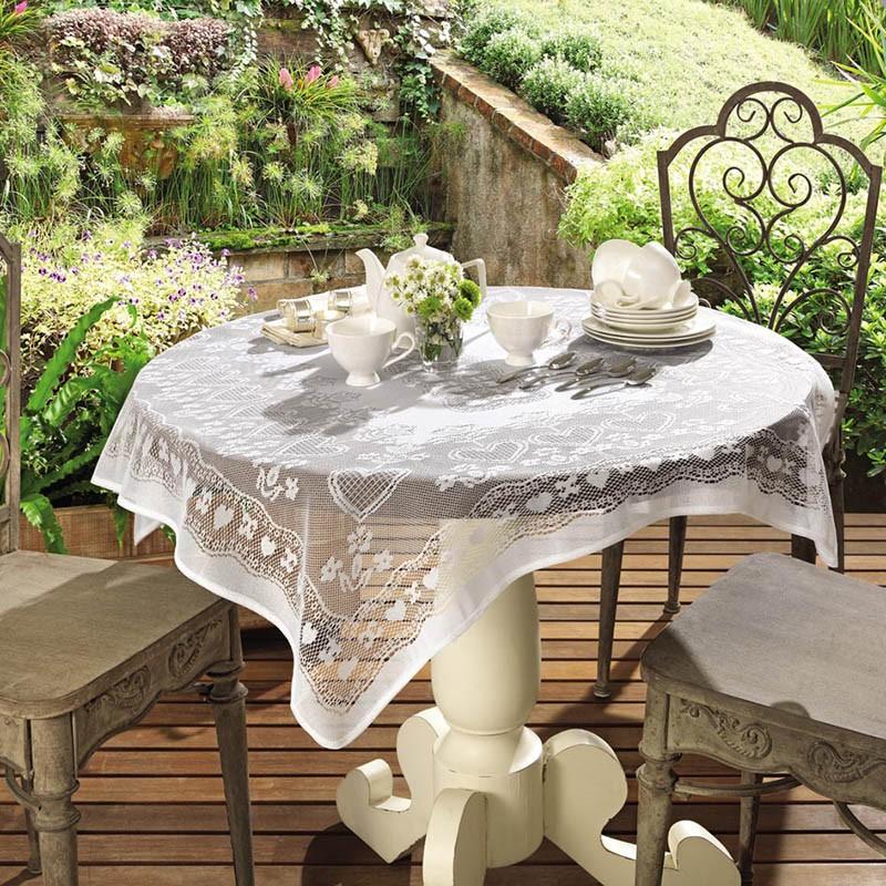 Toalha de mesa de Crochê Topper Lace 100 x 100 cm | Lepper
