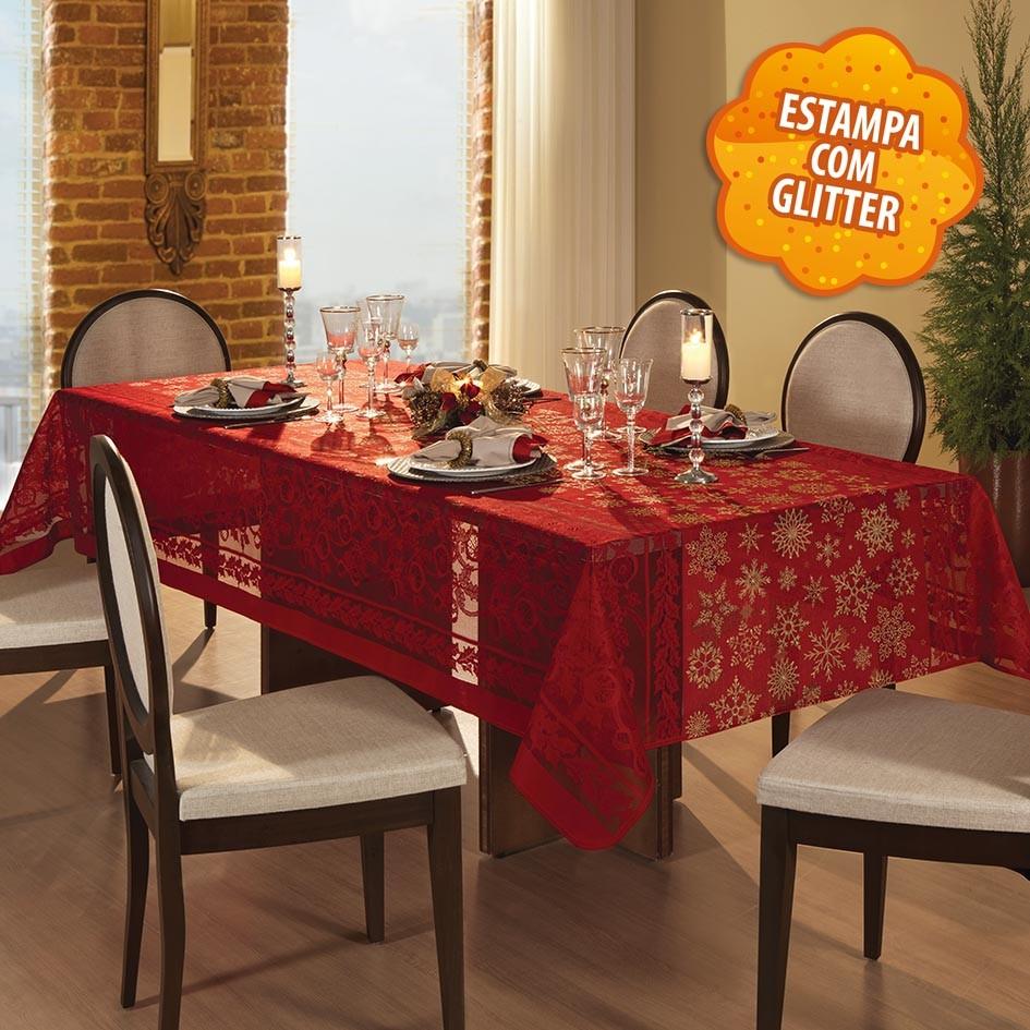 Toalha de mesa Retangular 10 lugares de Crochê Natal 1,55 x 3,00 m | Lepper