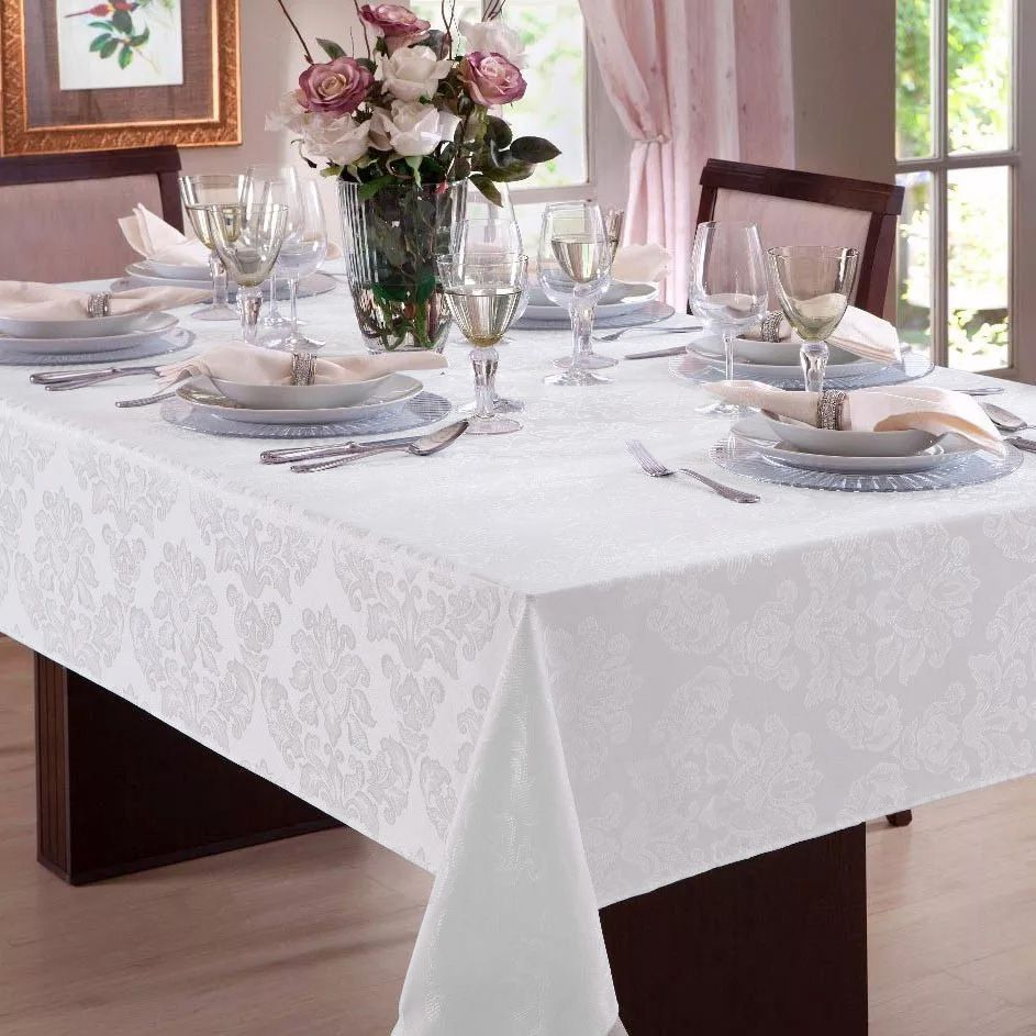 Toalha de mesa Retangular em Jacquard 8 Lugares   Admirare