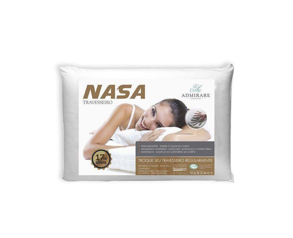 Travesseiro Antialergico Nasa 17 cm  Admirare