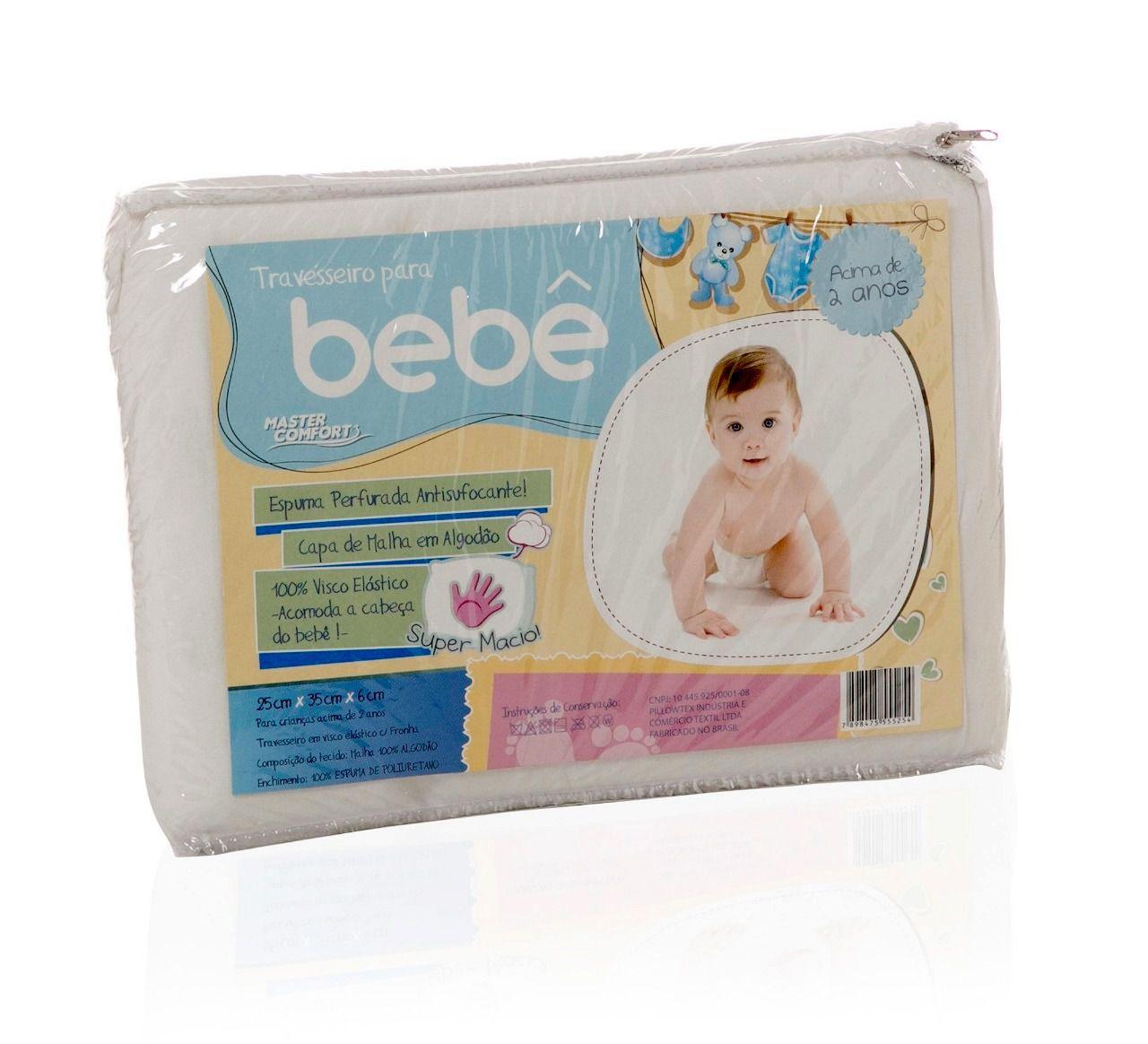 Travesseiro Infantil Baby Visco Malha - Antisufocante