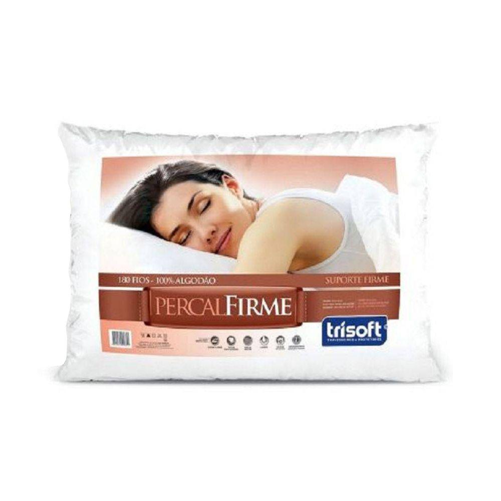 Travesseiro Percal Firme 50cm X 70cm | Trisoft