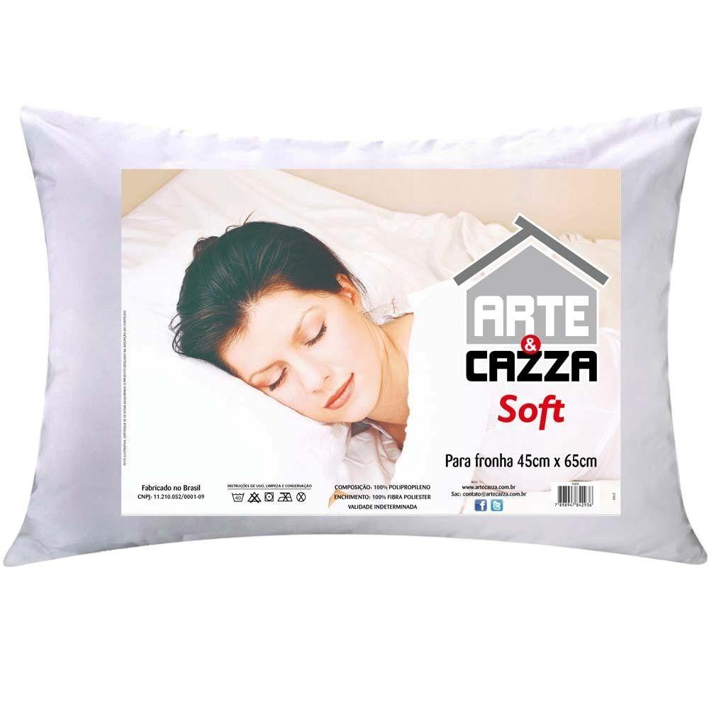 Travesseiro  Soft 45x65 Fibra Siliconada    Arte & Cazza