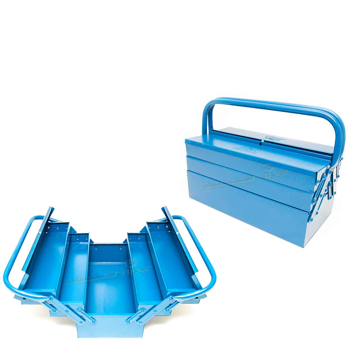 Caixa Sanfonada Azul 5 Gavetas Fercar