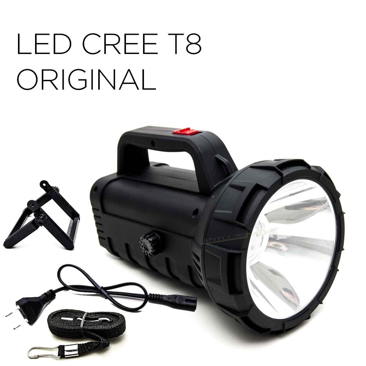 Lanterna Holofote 5000 Metros Recarregável Led Cree T8