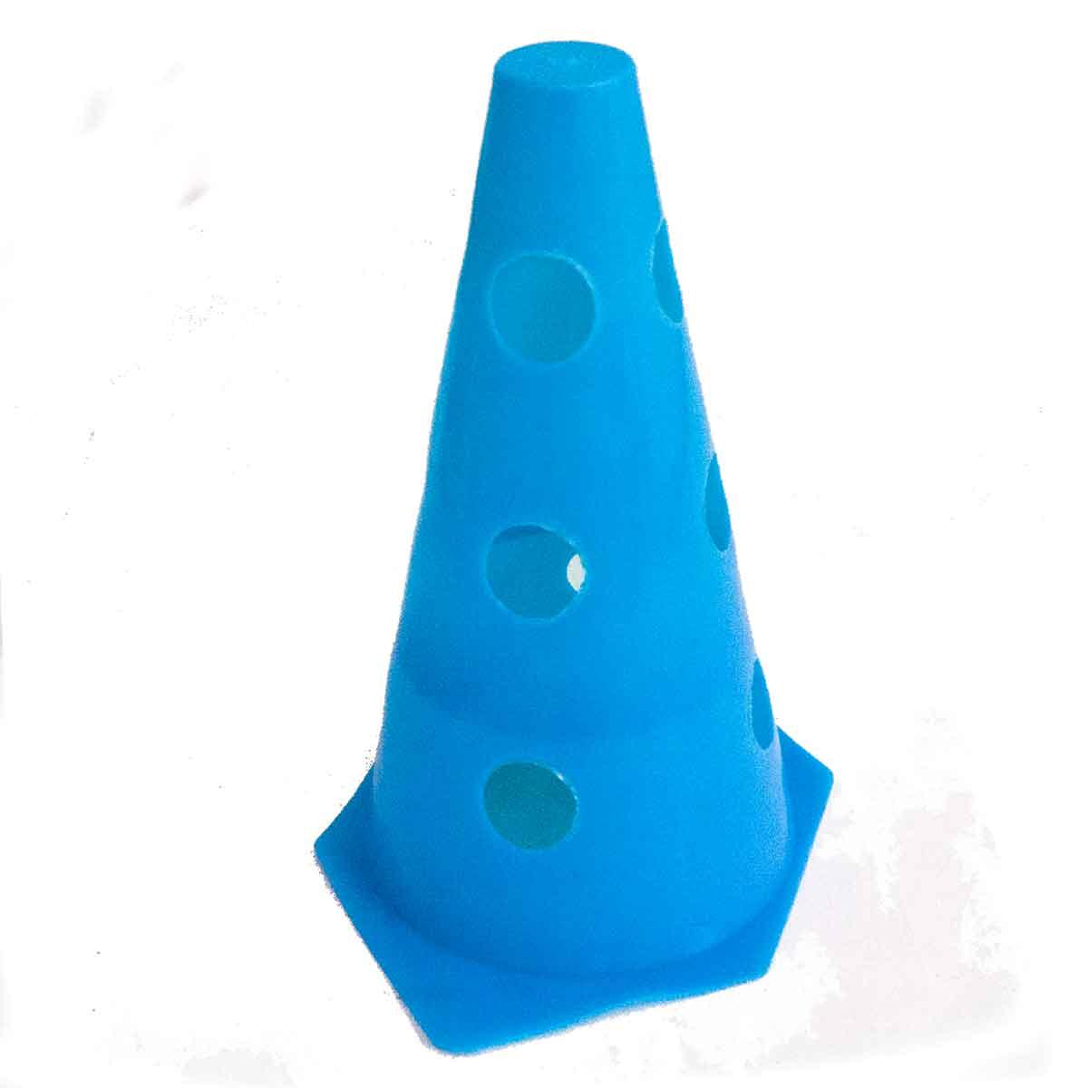 10x Mini Cone Sinalização Esportivo 23cm Agilidade Furado