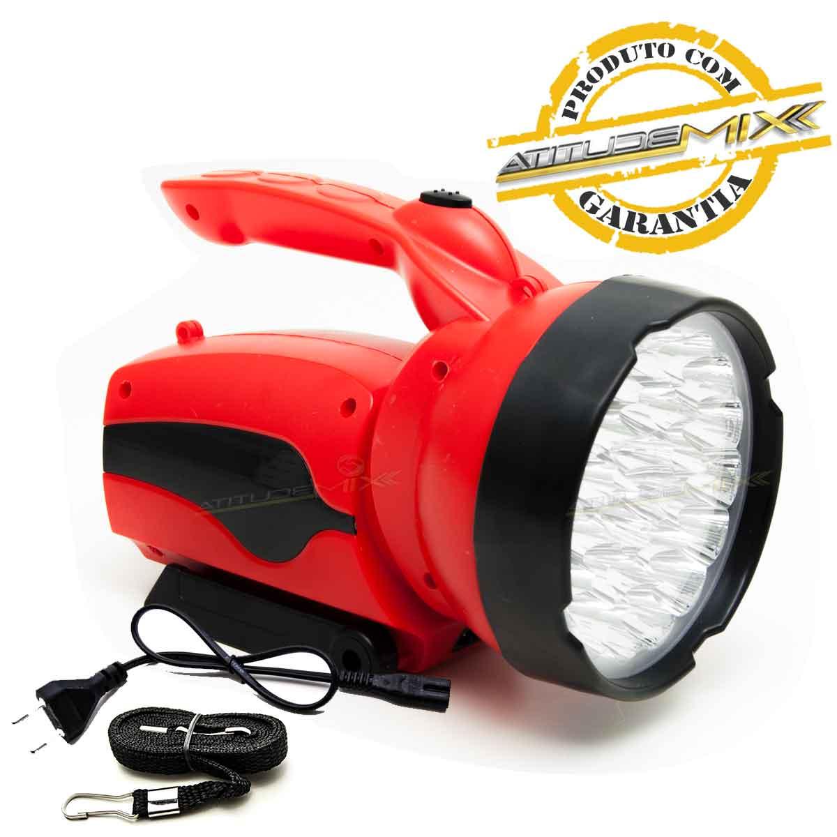 Lanterna Holofote Recarregável 30 Super Leds 16h Autonomia