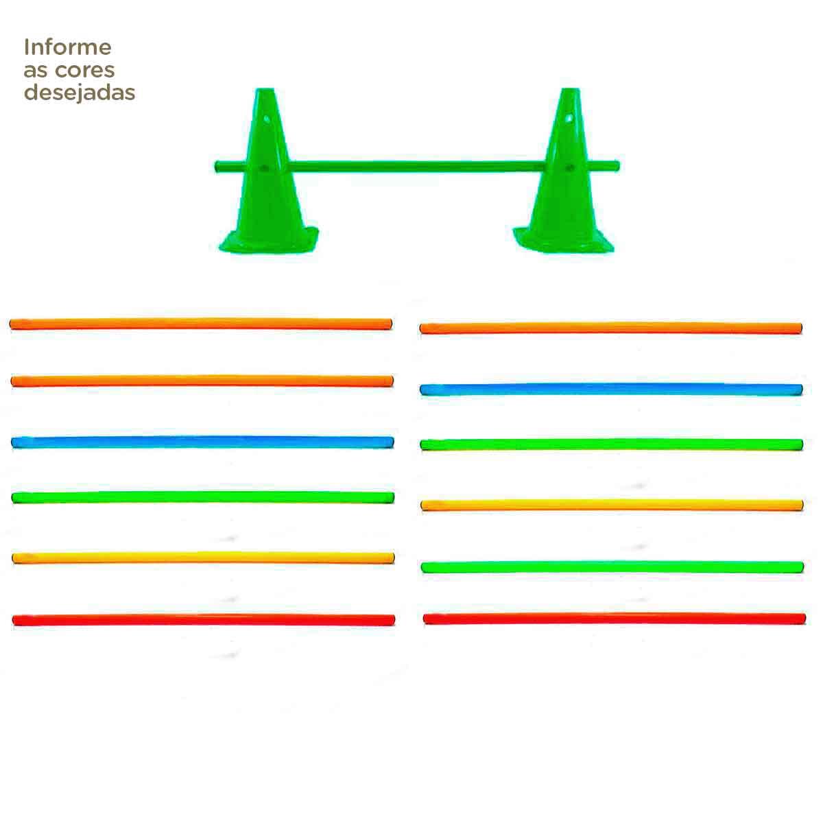 12x Barra Para Cone Agilidade Barreira Funcional Circuito