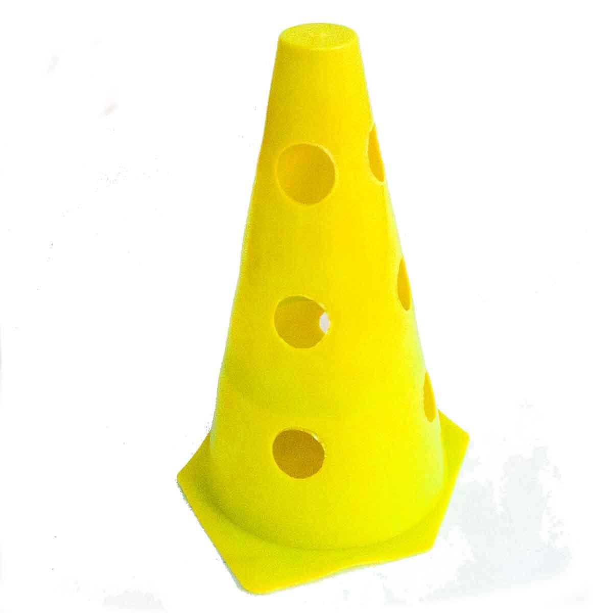 12x Mini Cone Sinalização Esportivo 23cm Agilidade Furado