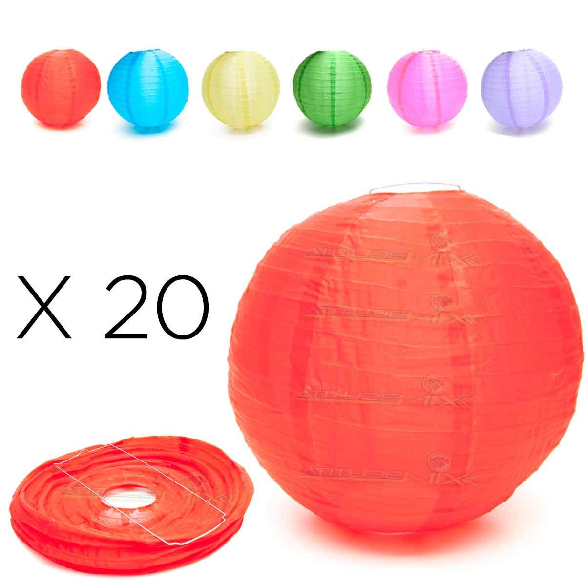 Kit 20 Luminária Japonesa Chinesa Oriental Tecido Nylon