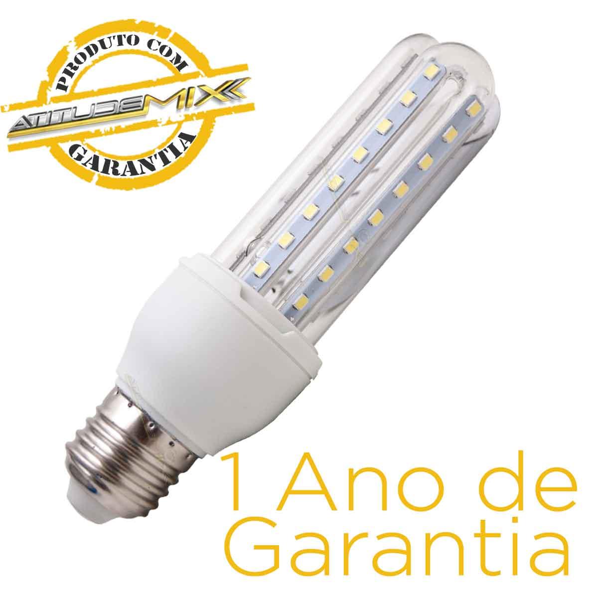 Lâmpada Led 9w Compacta Bi-volt E27 90% Mais Econômico