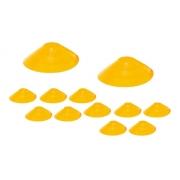 12x Chapéu Chines Cone 19cm Mini Treino Funcional Amarelo