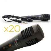Kit 20 Microfones De Metal Preto Knup