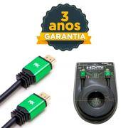 Cabo Hdmi 2.0 3m 4k 3 Metros Premium 19 Pinos Ultra Hd 3d