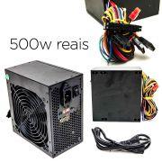 Fonte atx 500w Real 12v para Pc Computador Bivolt