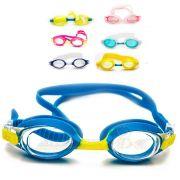 Óculos Natação Infantil Silicone Piscina Esportes Aquáticos