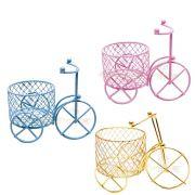 Kit 12 Mini Triciclos Aramados Com Cesto Lembrança