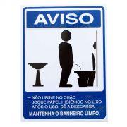 Placa Aviso Advertência Banheiro Masculino