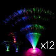 Kit 12 Abajures De Mesa Luminária De Fibra Ótica Decoração cód0,72