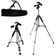 Tripé Câmera Fotográfica 1,70m Com Camera Chega A 1,80m