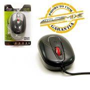 Mouse Com Fio 3 Botões Sensor Óptico Knup