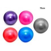 Bola Pilates Yoga Fitness 75 cm S/ Bomba Abdominal Ginastica