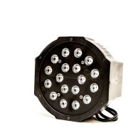 Canhao Refletor Led Par 64 Rgb 18 Leds Slim Digital
