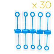 Kit 30 Tubetes Para Bola Bolha De Sabão Lembrancinha Azul