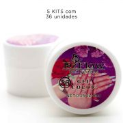 5 Kit Com 36 Gel Uv Colorido Para Unhas 8ml Manicure