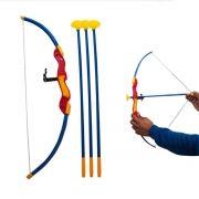 Arco e Flecha Brinquedo Infantil Alvo C/ 3 Flechas Criança