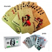 Baralho Poker Truco Dolar Cartas Jogos Ouro ou Prata