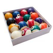 Bola Bilhar Snooker Sinuca 16 Bolas 52-55mm Numeradas Jogo