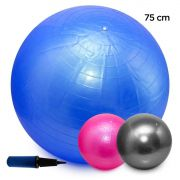 Bola Pilates Yoga Abdominal Ginástica Fitness 75cm C/ Bomba